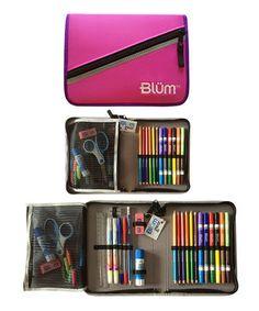 Another great find on #zulily! Hot Pink & Purple Grade 5-8 School Gear Set by Blüm #zulilyfinds