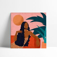 art and sketches Small Canvas Art, Diy Canvas Art, Illustration Art, Illustrations, Aesthetic Painting, Guache, Acrylic Art, Female Art, Art Inspo