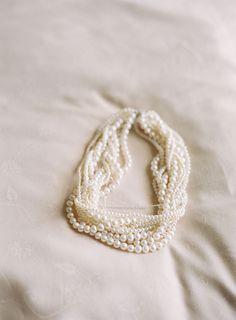 #pearls  Photography: Caroline Tran - carolinetran.net Wedding Planning: Ritzy Bee Events - ritzybee.com Floral Design: Sidra Forman - sidraforman.com  Read More: http://www.stylemepretty.com/2012/07/02/washington-dc-wedding-at-the-mandarin-oriental-by-caroline-tran/