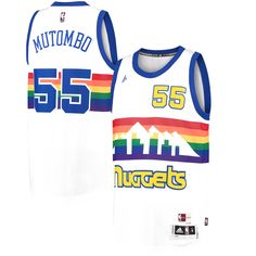 79bb5fd4f Dikembe Mutombo Denver Nuggets adidas Throwback Road Hardwood Classics  Swingman climacool Jersey - Navy -  87.99