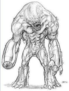 photo - tim burton's concept art for superman lives - bam! kapow!