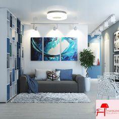Mavi Beyaz İç Mekan Dekorasyonu   Fashion Decoration, Home House Decoration Style