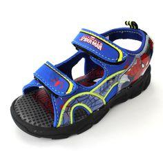 Spider-Man Boys Blue Lighted Sport Sandals Shoes SPS607 7 8 9 10 11 12  #Marvel #Sandals