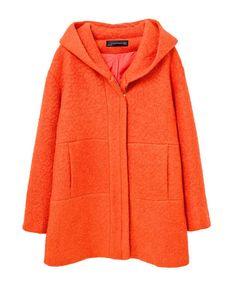 Hooded Double Pockets Long Sleeves Overcoat