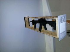 ar-15 hidden in the wall. Perfect