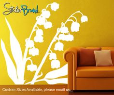 Vinyl Wall Decal Sticker Lily of the Valley Flower AC145m, 56 usd, etsy