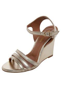 7cc07540a 22 melhores imagens de Sandálias Anabela   Wedge sandals, Shoes e Bags