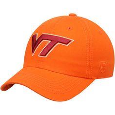 low priced 0dfd9 abb7e Men s Top of the World Orange Virginia Tech Hokies Solid Crew Adjustable Hat