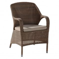 4Seasons Sussex Diningsessel Alu/Gefl Polyloom Taupe
