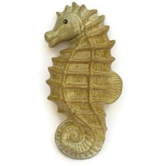 Ceramic Seahorse Wall Decor. Mid Century Pottery Wall Hanging. Beach... (€60) ❤ liked on Polyvore featuring home, home decor, mid century modern home decor, ceramic home decor and seahorse home decor