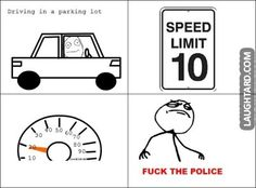 Driving in a parking lot #lol #funny, #haha, #funnypics, #laughtard