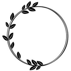 leaf messy circle monogram frame   Vinyl Crafts ...