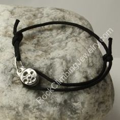 Sterling Silver Functional Pulley -  Nylon Cord Bracelet