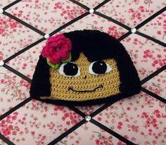 Childrens Viacom International Dora and Friends Knit Cap Beanie with Gloves