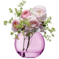 LSA Polka Vase Rose Pink - Small ($22) ❤ liked on Polyvore featuring home, home decor, flowers, fillers, decor, contemporary home decor, floral home decor, glass home decor, rose home decor and lsa international