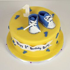 baby boy 1st birthday cake toronto by www.fortheloveofcake.ca, via Flickr