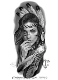 Chicanas Tattoo, Skull Girl Tattoo, Girl Face Tattoo, Girl Face Drawing, Chest Tattoo, Big Tattoo, Black Men Tattoos, Wolf Tattoos Men, Tattoo Black And Grey