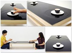 20 Of The Most Unique Desk and Table Designs Ever - 10 Ripple Effect tea table 2