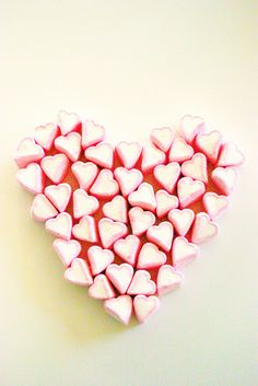 Heart of Marshmallow Hearts - would make a lovely framed print!