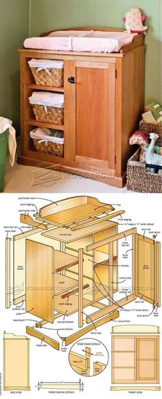 Changing Table Plans - Children's Furniture Plans and Projects | WoodArchivist.com