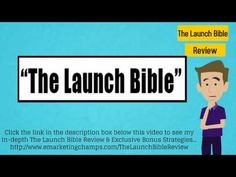 Check out this exclusive review of the The Launch Bible course and learn about the advantages and dis-advantages of this product. -- The Launch Bible --- https://www.youtube.com/watch?v=Zb-m4WvRQB4