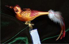 Fancy Kinglet German Glass Bird Christmas Ornament