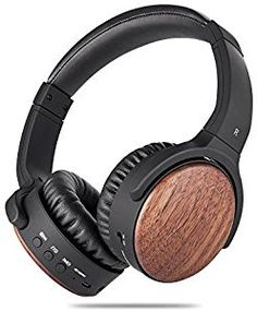 Win Active Noise Cancelling Wireless Headphones ANCDEEP ANCRETRO Wood On Ear  Bluetooth Headsets with Built-in Mic for iPhone Android PC 8eea8758ce0be