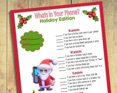 Christmas Finish My Phrase | Holiday Finish My Phrase | Christmas Scattergories | Christmas Party Games | Holiday Party Games