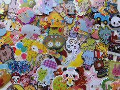 Cute Animals Zoo Variety Flake Sack Stickers - 80 pcs