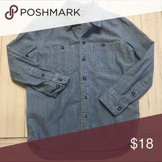 Gap Chambray Worn once, excellent condition!  Just needs an iron or steam 😜. Perfect by itself or under a sweater or over a tshirt!  Pair with denim or khakis!  On trend! GAP Shirts & Tops Button Down Shirts