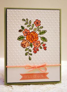 Stampin' Up! So Very Grateful handmade thank you card