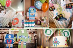 robot themed. so cute!  Peytons birthday is in september, but now he is old enough to pick what he wants... so here is one idea.  Knowing him he will pick Diego.