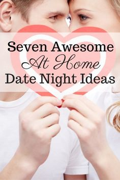 Seven Awesome At Home Date Night Ideas! AD Dates nights don'r have to mean going out or even spending a lot of money. These are perfect for Valentine's Day too!