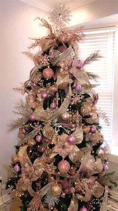 Pink Christmas Tree Decorations Splendid Pink Christmas Tree Decorations Exquisite Appearance Themes Silver