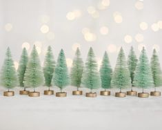 A set of 12 minty trees for crafts and Christmas decorating. These vintage style miniature sisal trees have been hand dyed light minty green tones. Christmas Ribbon, Gold Christmas, Cotton Crafts, Bottle Brush Trees, Miniature Christmas, Christmas Villages, Sisal, Seasonal Decor, Holiday Crafts