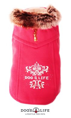 Dog's Life Winter Duffle Coat. How gorgeous will your dog look in this cute luxurious coat featuring a cool Dog's Life emblem at the back and A grade diamante. The inside of the coat is made with super soft creamy white coral fleece, as is the super soft faux furry collar. Available size and Prices:  XS, S, M, L, XL, XXL R325 Duffle Coat, Creamy White, Dog Life, Drink Sleeves, Best Dogs, Your Dog, Winter Hats, Coral, Cool Stuff