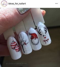Ready to decorate your nails for the Christmas Holiday? Christmas Nail Art Designs Right Here! Xmas party ideas for your nails. Be the talk of the Holiday party with your holiday nail designs. Nail Noel, Xmas Nail Art, Cute Christmas Nails, Christmas Nail Art Designs, Holiday Nail Art, Xmas Nails, Winter Nail Designs, Winter Nail Art, Winter Nails