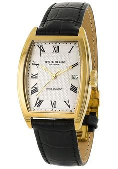 Price:$101.00 #watches Stuhrling Original 242.12352, Created in a blend of fashion and class, this Stuhrling timepiece exhibits a bold style that adds flare to your collection.