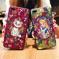 Cartoon Relief Phone case for iphone 7 7Plus Alice princess Mary cat silicon+ PC Case For iphone 6 6s 6plus back cover //Price: $11.95 & FREE Shipping // #catgift