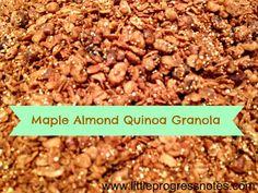 maple almond quinoa granola