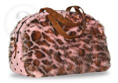 Pink Leopard Faux Fur Travel Bag Overnighter Weekend Bag Diaper Bag Luggage New | eBay