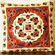 home&lifestyle - summergarden style of elegant embroidery rose red floral patterns cushion cover/pillowcase cotton/front:embroidery floral pattern/back:blank w/hidden zipper) is available at Department Golden Pineapple Please PM/emails us for further info Rose Embroidery, Floral Patterns, Beauty Shop, Red Roses, Bohemian Rug, Pineapple, Cushions, Zipper, Lifestyle