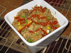 quinoa and chicken fried rice
