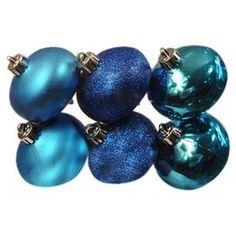 Onion Ornament in Blue (Set of 6)