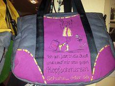 Ich glaub die TASCHE spricht für sich Reusable Tote Bags, Great Love, Elves, City, Dime Bags, Nice Asses