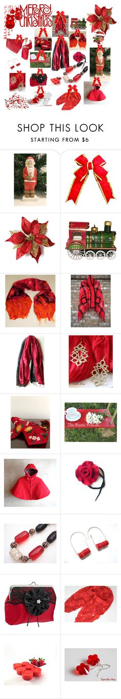 Merry Christmas by anna-recycle on Polyvore featuring Brewster Home Fashions, modern, rustic and vintage