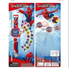 Spiderman kids 3d cartoon #digital projector watch. 20 #images. uk #seller. new.,  View more on the LINK: 	http://www.zeppy.io/product/gb/2/112291960636/