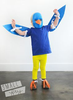 DIY Duct Tape Bird Costume for Kids