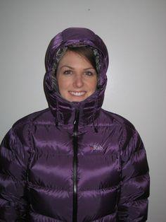 Purple Rab down jacket