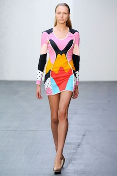 josh goot colorful printed dress
